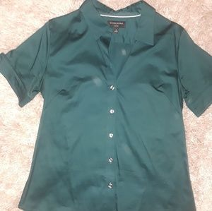 Banana Republic short sleeved button down blouse